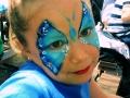 maquillaje de mariposa para niña