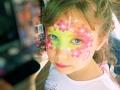 máscara de flores