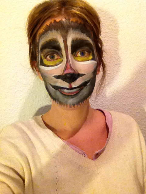Lemur Face Paint