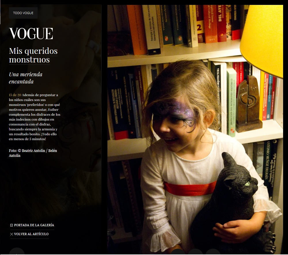 Facepaint infantil Halloween para VOGUE ESPAÑA