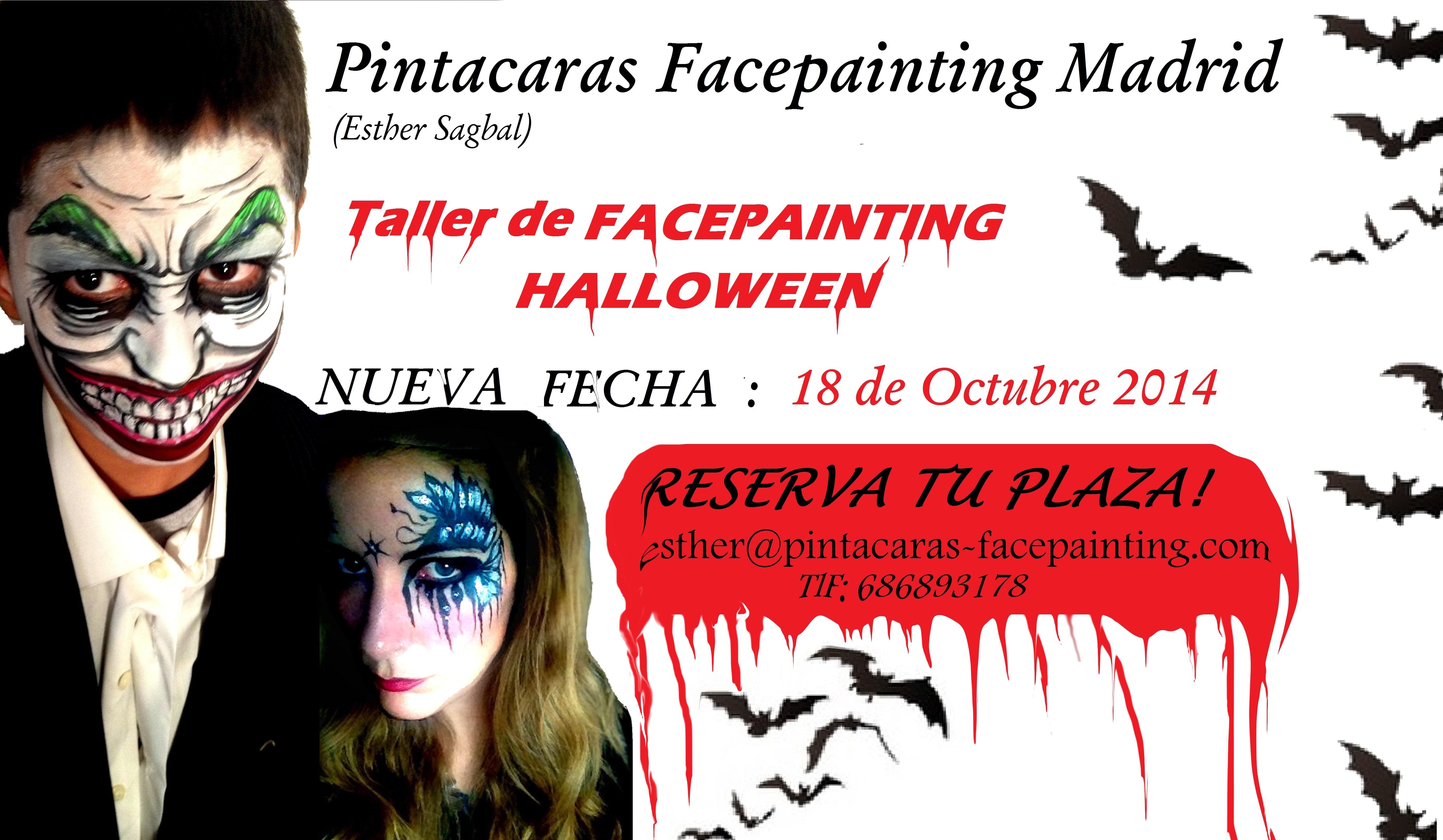 Taller de Facepainting, cursos de pintacaras, taller pintacaras Halloween