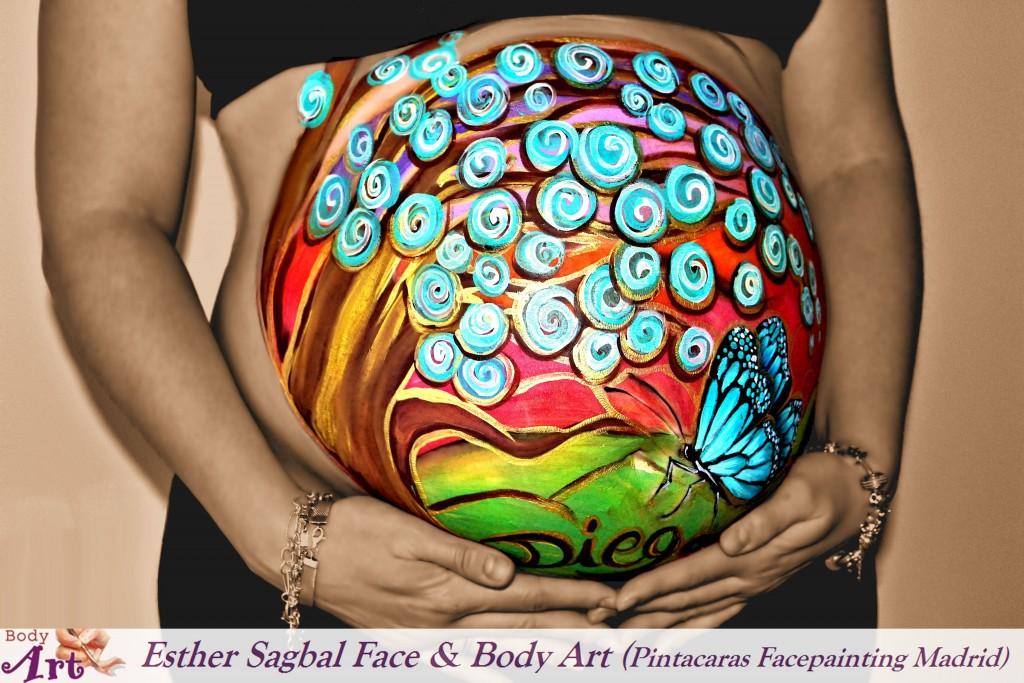 Pintura corporal a embarazadas