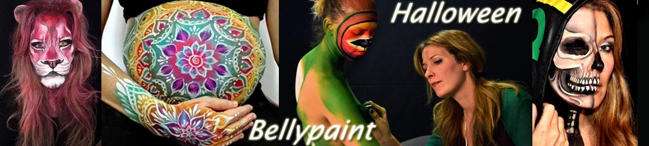 Bellypaint madrid, Bodypaint ferias, contratar bodypainter
