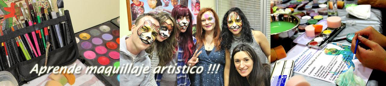 Talleres de pintacaras, curso de pintacaras, caprender maquillaje infantil, curso de facepaint, taller de facepaint