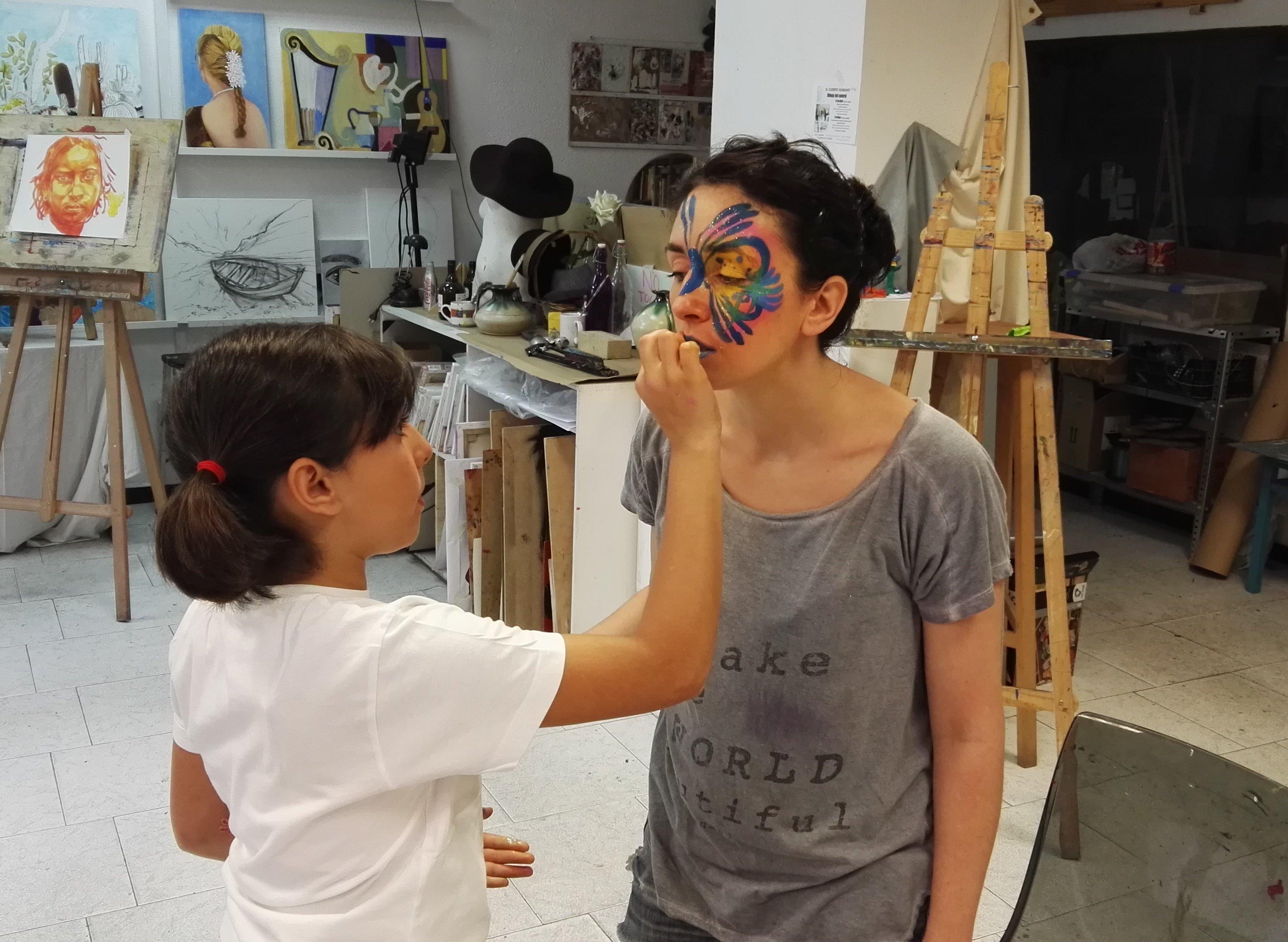 taller de pintacaras, curso de facepaint, curso de pintacaras, aprender maquillaje infantil