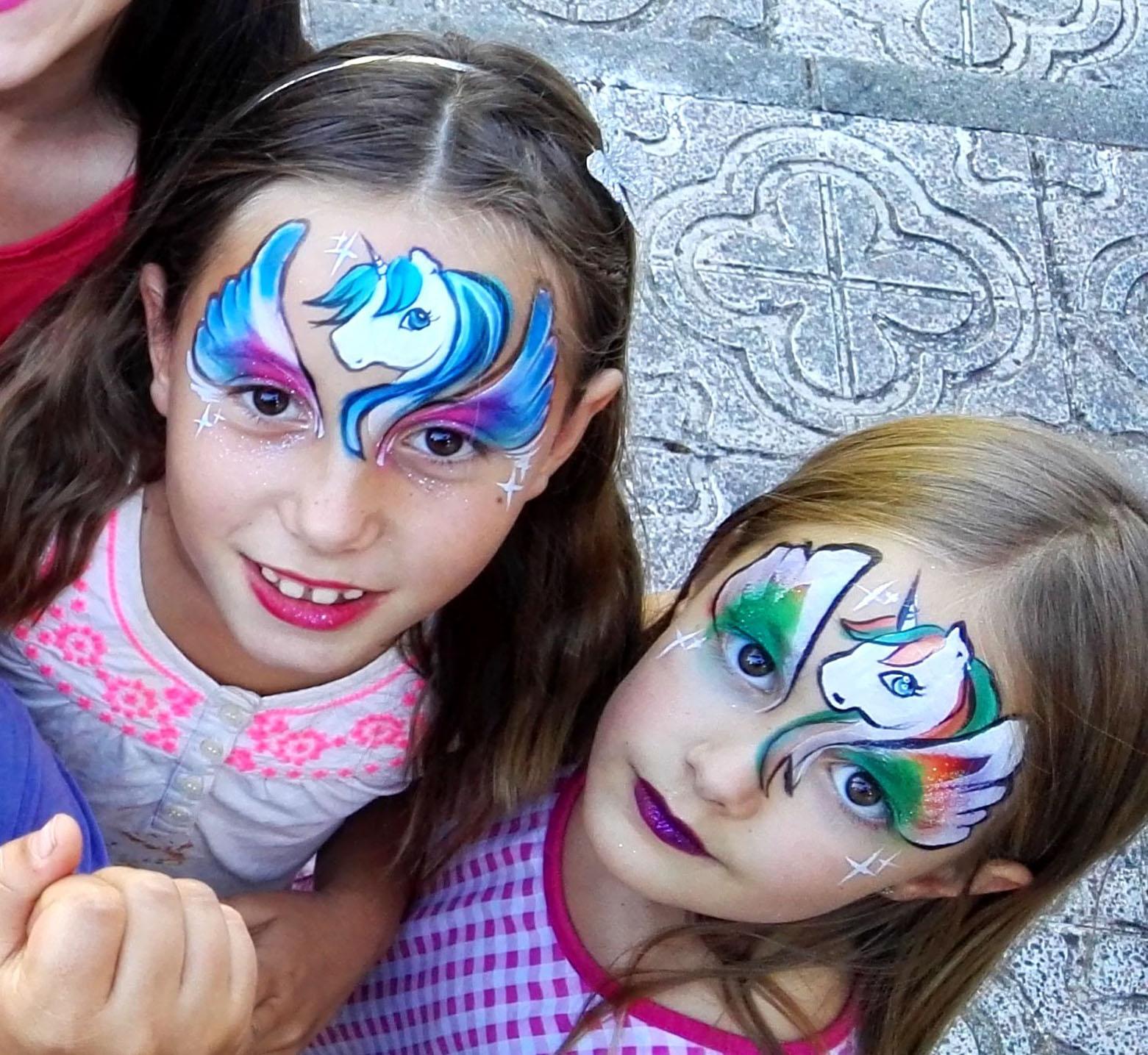 Pintacaras infantil, facepaint infantil, contratar pintacaras profesional