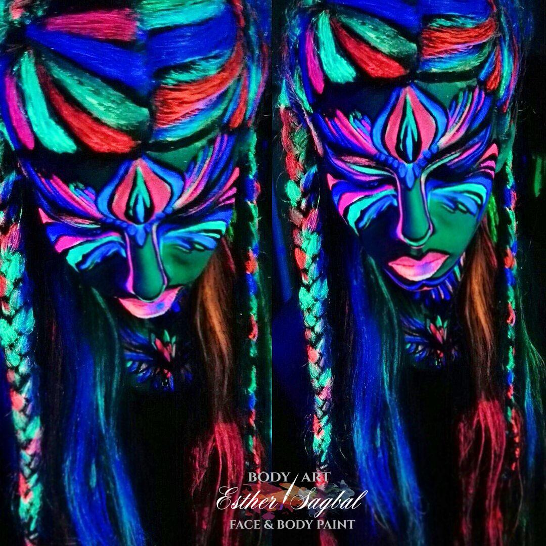 Maquillaje fluorescente para fiestas