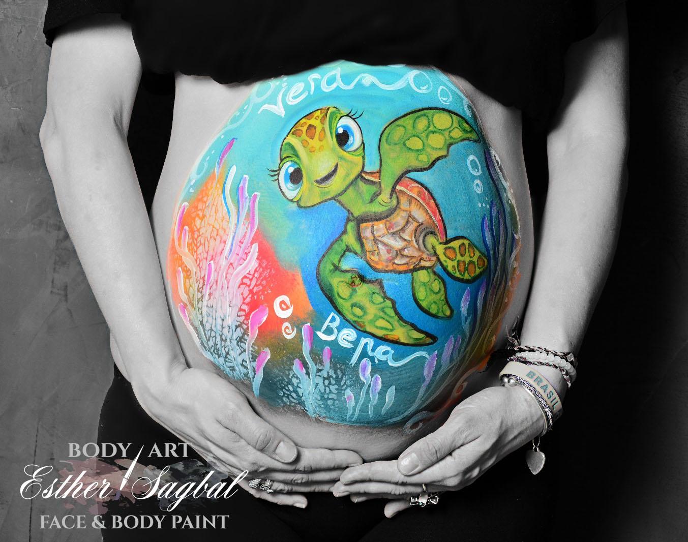 ideas para pintar barriga embarazada