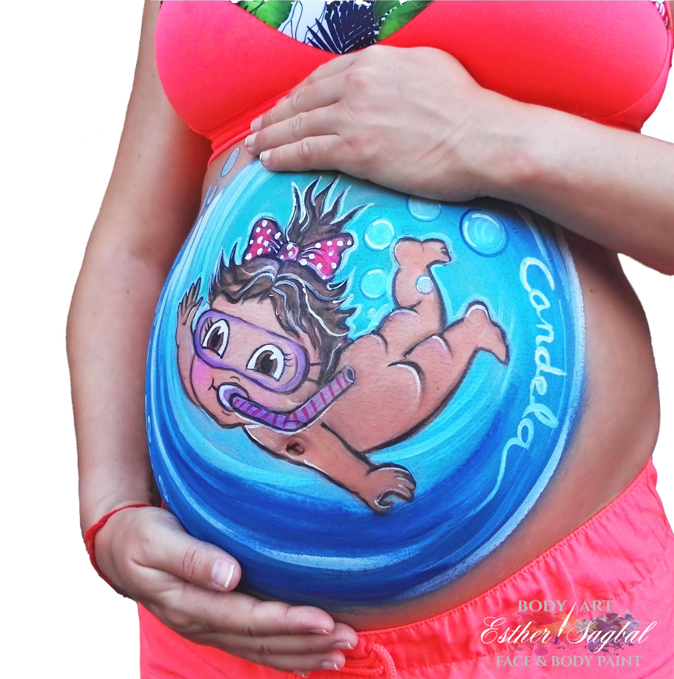 Pintar Barriga De Embarazada En Madrid Trabajo Profesional Preciosos Diseños