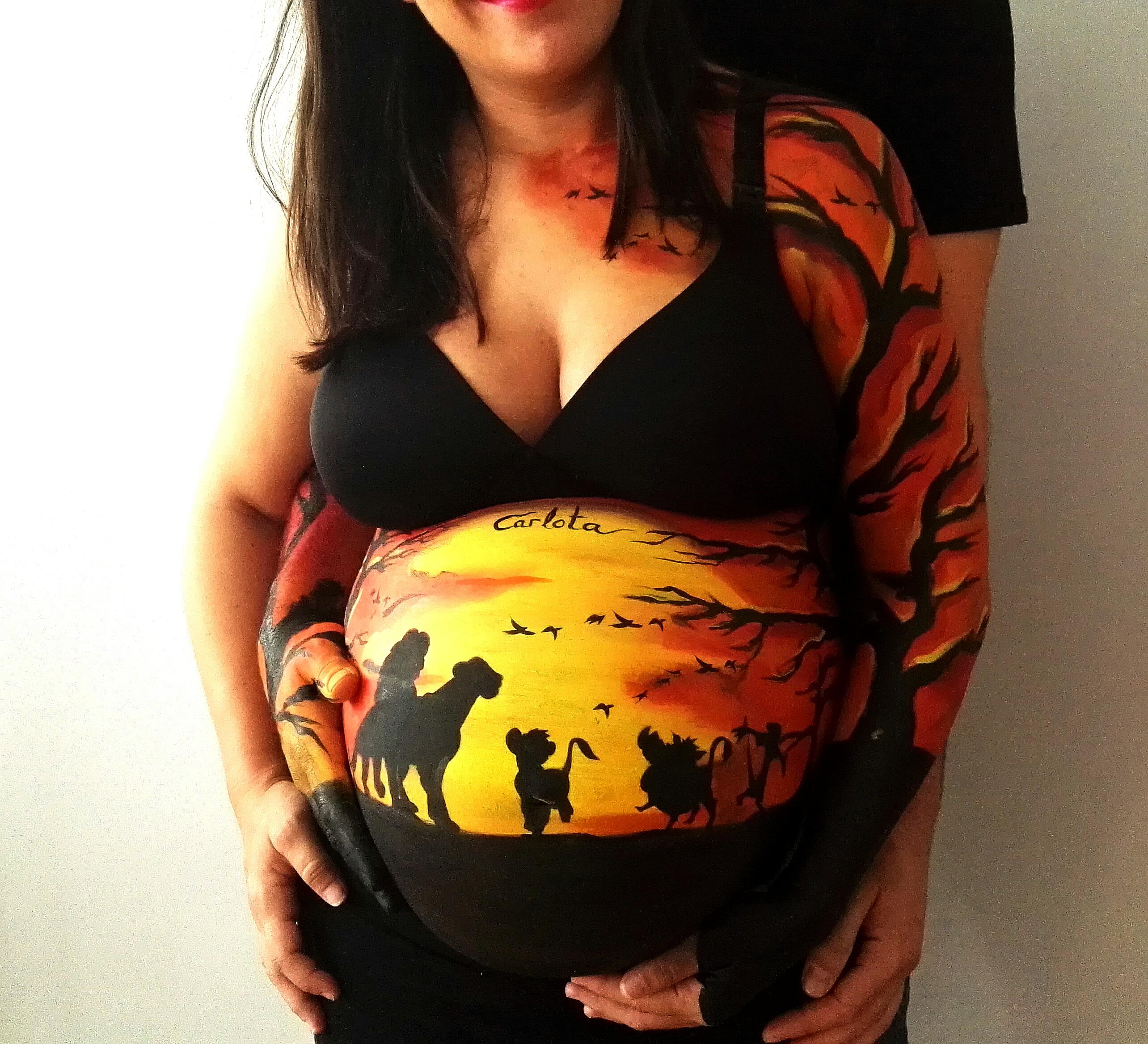 Bodypaint para embarazadas