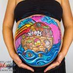 Sesiones de pintura a embarazadas en Madrid