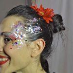 Maquillaje con purpurinas en eventos