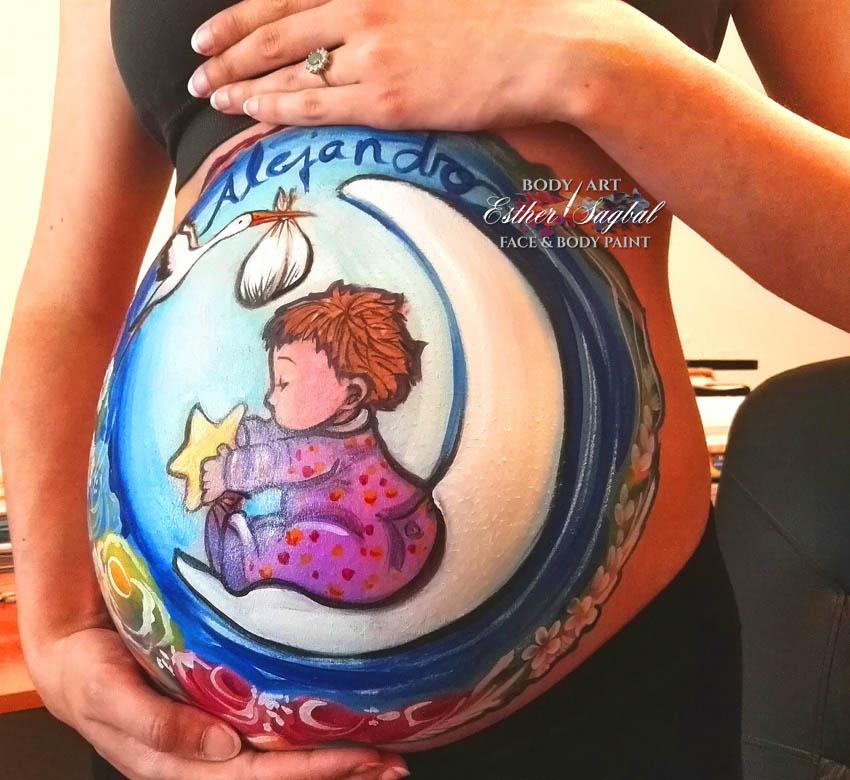 Pinta tu barriguita de embarazada en Madrid