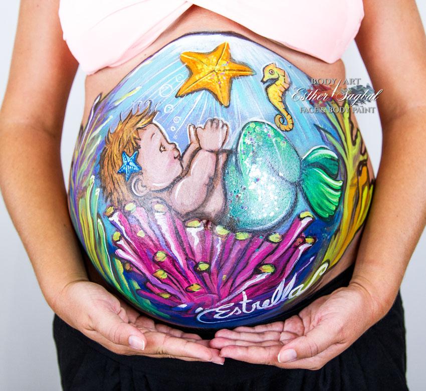 Pinta tu tripita de embarazada en Madrid