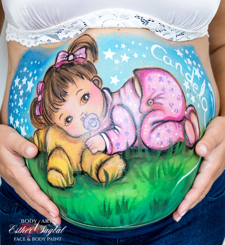 Sesion belly painting madrid