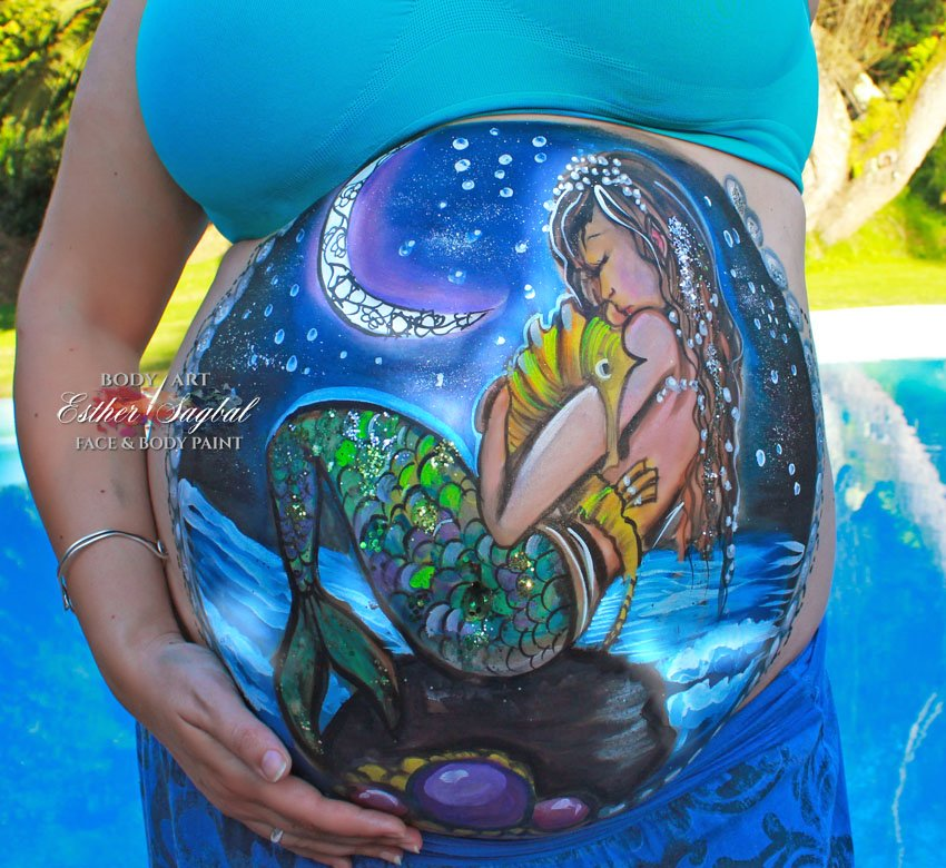 Belly paint en Madrid para embarazo