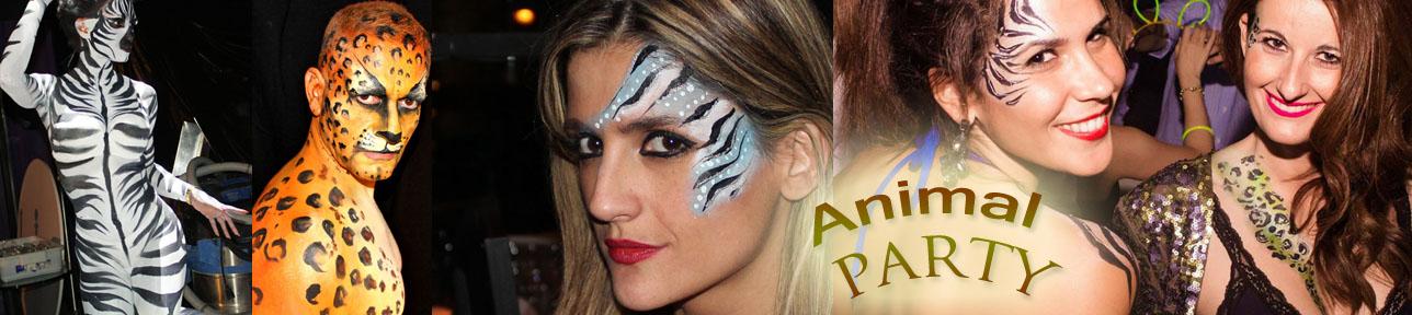 maquilladora animal party