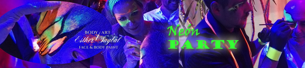 Bodypaint con fluor para fiestas