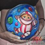 Pintar la barriga a embarazadas en Madrid