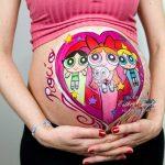 Pintura corporal en el embarazo