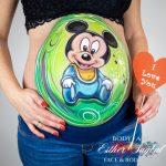 Pintarte la barriga durante el embarazo