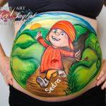 Pinta tu barriga durante el embarazo