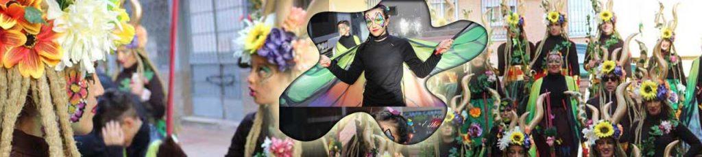 maquillaje para carnaval, maquillaje en comparsas y grupos