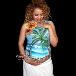 Bellypaint en Madrid, bodypaint durante el embarazo